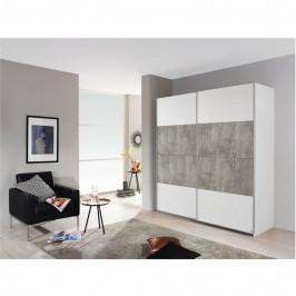 Sconto Šatní skříň MARONI alpská bílá/beton