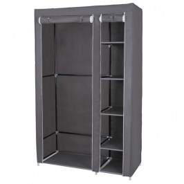 Sconto Látková šatní skříň LSF007 šedá