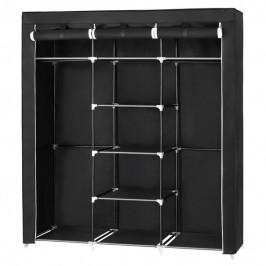Sconto Látková šatní skříň RYG12 černá