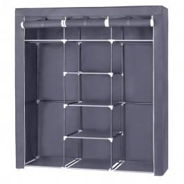 Sconto Látková šatní skříň RYG12 šedá
