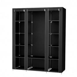 Sconto Látková šatní skříň LSF03H černá