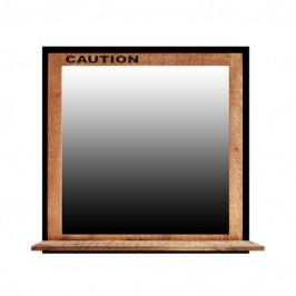 Sconto Zrcadlo s poličkou IRON mangovník