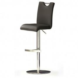 Sconto Barová židle HAILEY hnědá/kůže