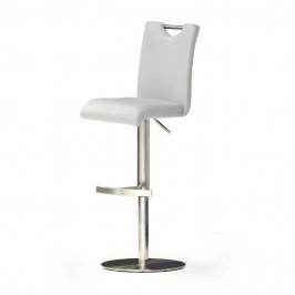 Sconto Barová židle HAILEY bílá/syntetická kůže
