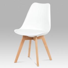 Sconto Jídelní židle SABRINA bílá/buk