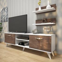 Sconto TV stěna AVA II ořech/bílá