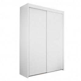 Sconto Šatní skříň KING 2 bílá, 151 cm, bez zrcadla