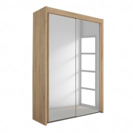 Sconto Šatní skříň KING 2 dub sonoma, 151 cm, 2 zrcadla