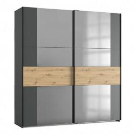 Sconto Šatní skříň SAVANNA dub artisan/grafit, 200 cm