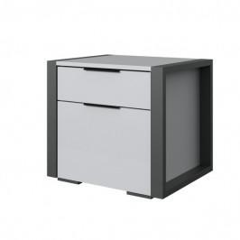 Sconto Noční stolek NACHES světle šedá/grafit, 2 ks
