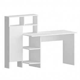 Sconto Psací stůl s regálem BUGRA bílá