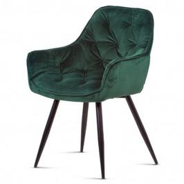 Sconto Jídelní židle ELIZABETH zelená/černá