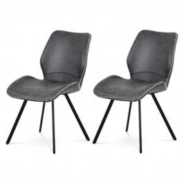 Sconto Set 2 jídelních židlí ANNIE šedá