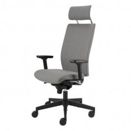 Sconto Kancelářská židle CONNOR šedá