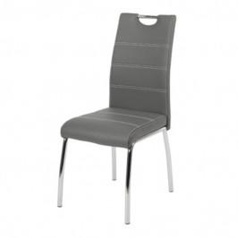 Sconto Jídelní židle NOEMI šedá/kov