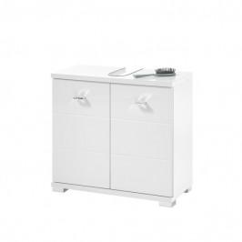 Sconto Umyvadlová skříňka POOL 60 cm, bílá vysoký lesk