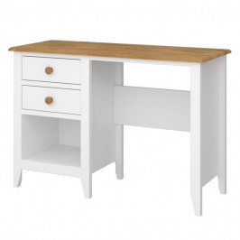 Sconto Psací stůl HOLDEN bílá/borovice