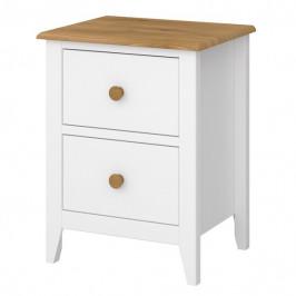 Sconto Noční stolek HOLDEN bílá/borovice