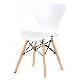Sconto Jídelní židle DARINA bílá/buk