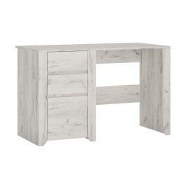 Sconto Psací stůl ANGEL 80 dub craft bílý