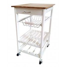 Sconto Kuchyňský vozík KIMI II bílá