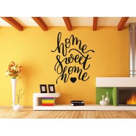 Samolepka na zeď Nápis Home Sweet Home 0634