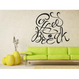Samolepka na zeď Nápis Coffee break 0637