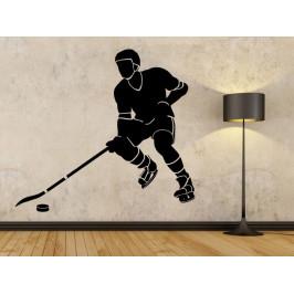 Samolepka na zeď Hokejista 0708