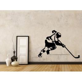 Samolepka na zeď Hokejista 0710