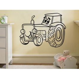 Samolepka na zeď Traktor 0713