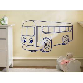 Samolepka na zeď Autíčko autobus 0780