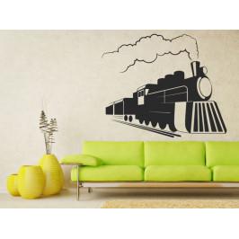 Samolepka na zeď Parní lokomotiva 0807