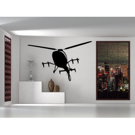 Samolepka na zeď Vrtulník 0869