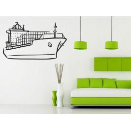 Samolepka na zeď Loď s kontejnery 0940