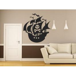 Samolepka na zeď Pirátská loď 0943