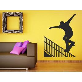 Samolepka na zeď Skateboardista 0950