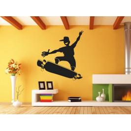 Samolepka na zeď Skateboardista 0956