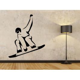 Samolepka na zeď Snowboardista 0971