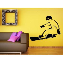 Samolepka na zeď Snowboardista 0972