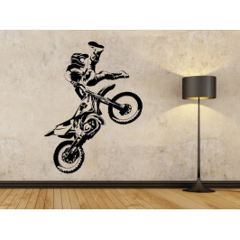 Samolepka na zeď Motokros 0992