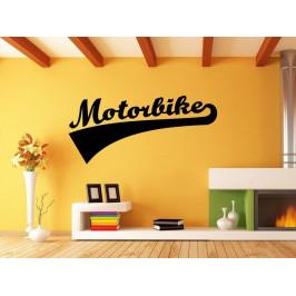 Samolepka na zeď Nápis Motorbike 0999