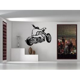 Samolepka na zeď Motorkář 1001