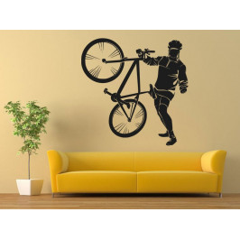 Samolepka na zeď Cyklista 1036