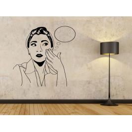 Samolepka na zeď Retro žena z komiksu 1061