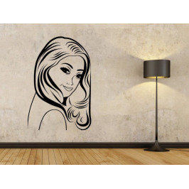 Samolepka na zeď Retro žena z komiksu 1072
