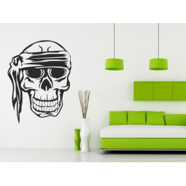 Samolepka na zeď Lebka piráta 1173