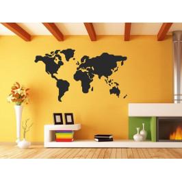 Samolepka na zeď Mapa světa 1232
