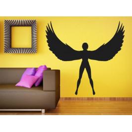 Samolepka na zeď Anděl s roztaženými křídly 1236