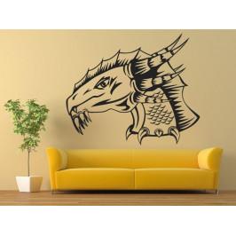 Samolepka na zeď Hlava draka 1254