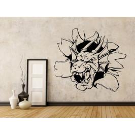 Samolepka na zeď Hlava draka 1259